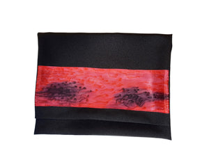 Dramatic Fire Lava Hand Painted Sillk Stripes Black Tallit for Women, Bat Mitzvah Tallit bag, Girls Tallit