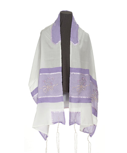 Lilac Dawn Tallit for women, Bat Mitzvha Tallit
