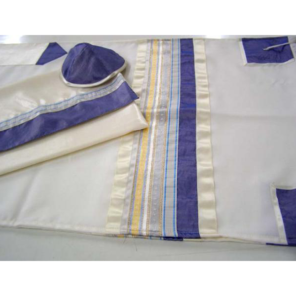 Tallit Gold and Blue