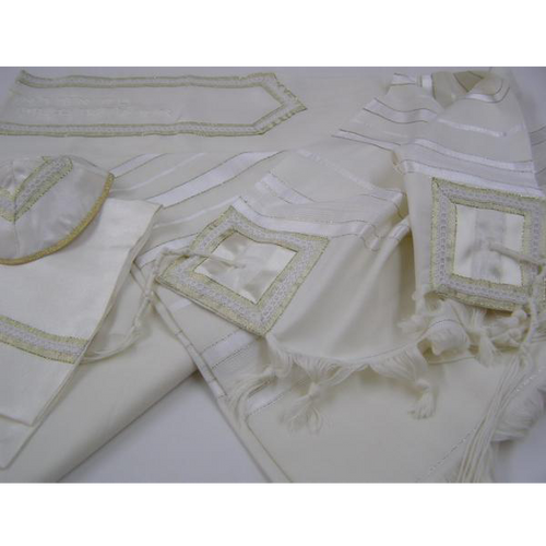 Classic Golden Wool Tallit Jewish Prayer Shawl by Galilee Silks