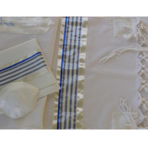 The Blue and White Stripes Tallit