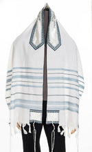 Load image into Gallery viewer, A Peace Tallit for men, Bar Mitzvah tallit, wedding tallit, Wool tallit from Israel