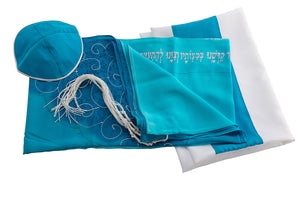 Tree of life womens tallit set by Galilee Silks Israel