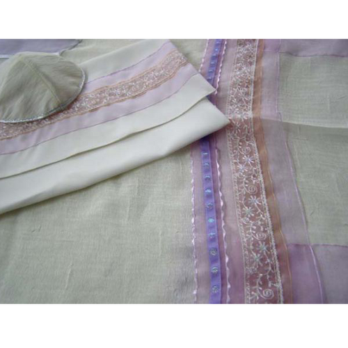Galilee Silks Lavender Silk Tallit for Women