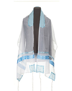 Blue Paisley Tallit for women, Bat Mitzvah Tallit