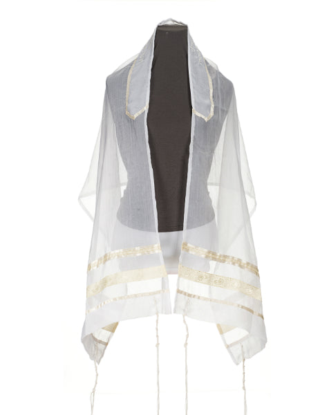 Cream Paisley Tallit for women, girls tallit, bat mitzvah tallit, womens tallit