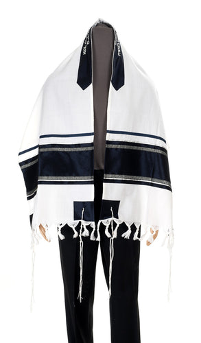 Striped Men's Wool Tallit Made In Israel, Bar Mitzvah Tallit from israel