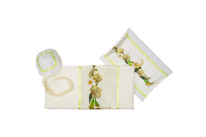 White Calla Lilies Bouquet Tallit for Women, bat mitzvah tallit set