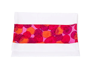 Rose Pink Flowered Tallit For Woman - Galilee Silks