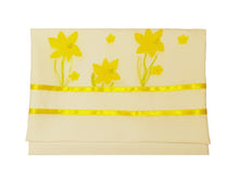 Load image into Gallery viewer, The Daffodils Hand Painted Silk Tallit for Women, Bat Mitzvah Tallit, Women's Tallit bag