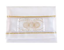 Load image into Gallery viewer, gold circles bat mitzvah tallit for women, girl tallit bag