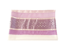 Load image into Gallery viewer, Lilac Star of David Tallit for women, Bat Mitzvah Tallit bag