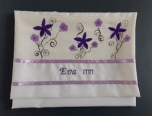 Load image into Gallery viewer, Silk Tallit for girl,  Bat Mitzvah Tallit, girls tallit, womens tallit, tallit for bat mitzha bag with name