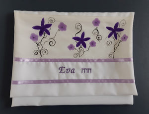 Silk Tallit for girl,  Bat Mitzvah Tallit, girls tallit, womens tallit, tallit for bat mitzha bag with name