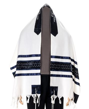 Exclusive Magen David wool Tallit, Bar Mitzvah tallit, Wedding tallit from Israel by Galilee Silks