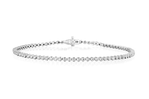 Diamond Bezel Eternity Bracelet