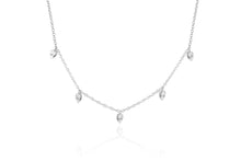 Load image into Gallery viewer, Diamond Multi Teardrop Choker Necklace