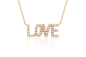Mini Diamond Love Necklace
