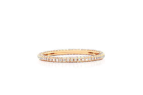 3 Sided Diamond Eternity Band Ring