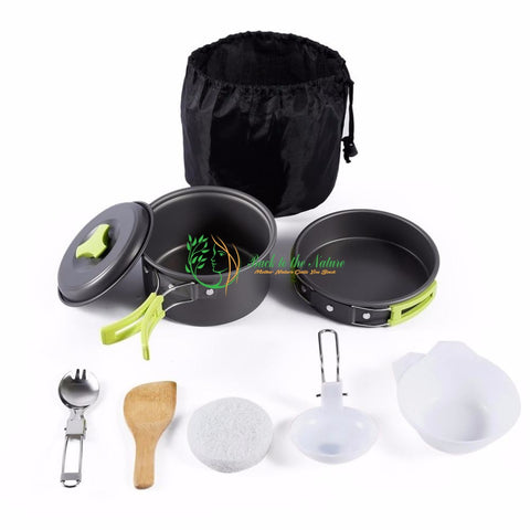 8PCS Portable Stainless Steel Outdoor Cooking Set | Back To The Nature