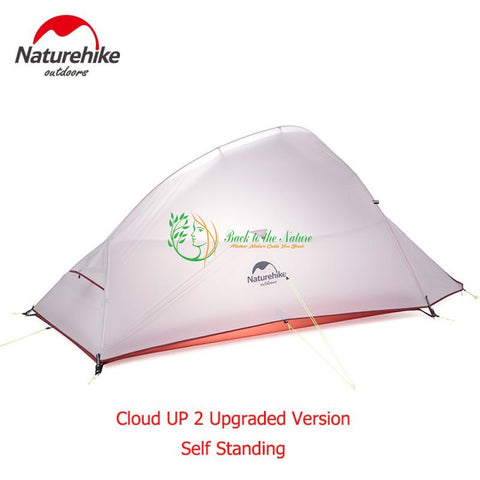 Naturehike CloudUp Series Ultralight Hiking Tent 20D Fabric For 2 Person With Mat | Back To The Nature