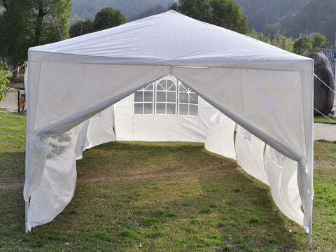 10'x30' Outdoor Canopy Party Pavilion w/8 Side Walls | Back To The Nature