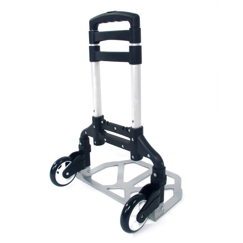 Portable Folding Collapsible Aluminum Cart Dolly Push Truck Trolley