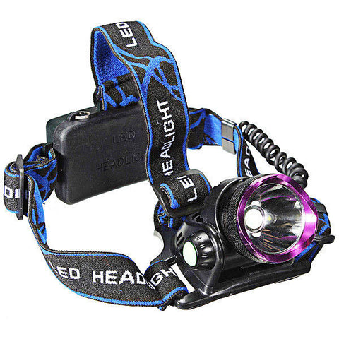 2000LM T6 LED Rechargeable Headlight Head Lamp