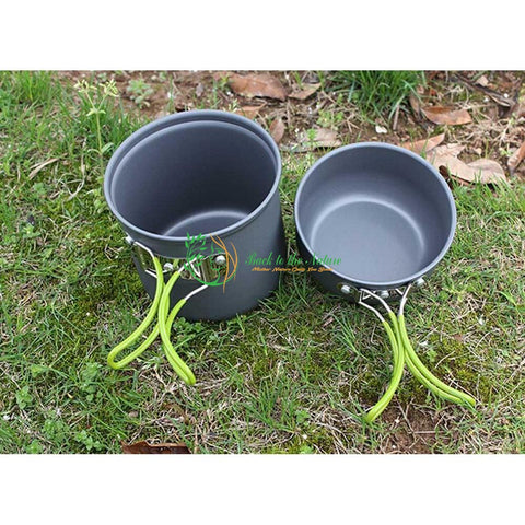 Non-stick Portable Outdoor Camping / Hiking Cooking Set | Back To The Nature