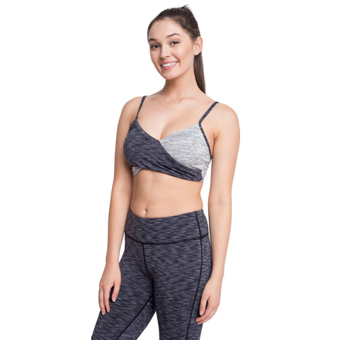 Contrast Color Sports Bra | Back To The Nature