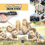 4-in-1 Mini Selfie Stick with Remote