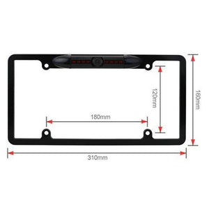 License Plate Frame w/ 170° Angle Rear View Camera