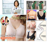 Front Zipper Closure Breathable Silk Bra