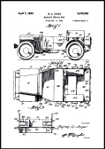 Jeep Military Patent Poster