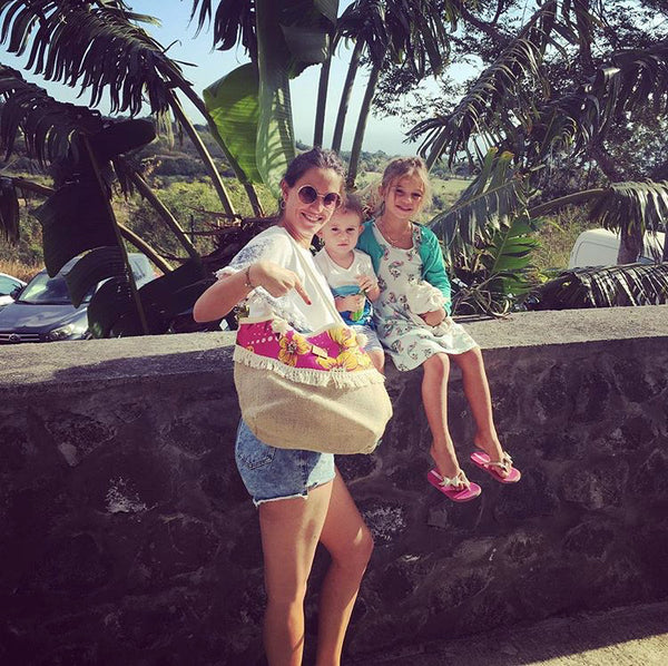 Flor da Mata Brazil⎜Customer Reunion Island Beach Bag Areias
