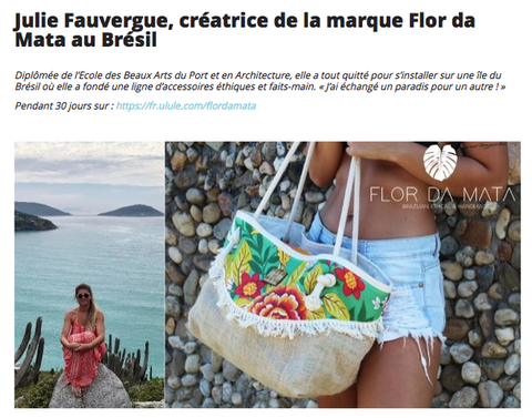Flor da Mata article French digital newspaper