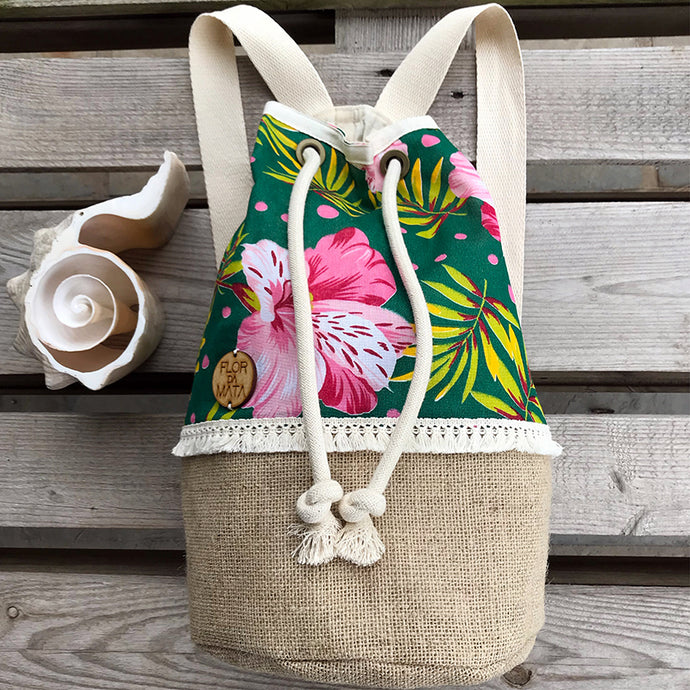 Flor da Mata - Custom Backpack Campeche Tina