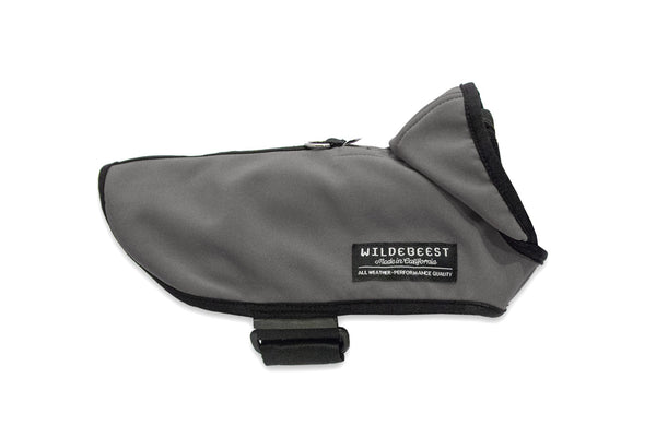 Wildebeest All Weather Dog Jacket Charcoal Side View