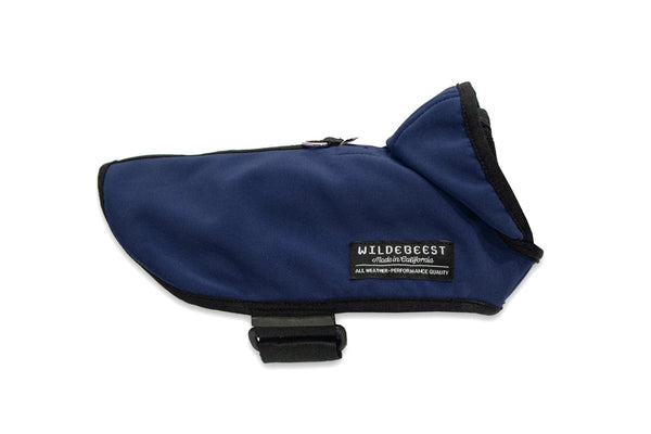 Wildebeest All Weather Dog Jacket Navy Side View
