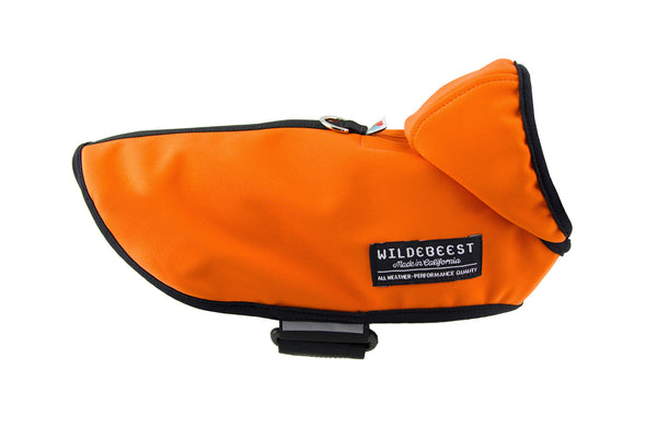 All Weather Dog Jacket / Orange - Wildebeest