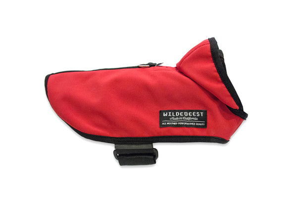 Wildebeest All Weather Dog Jacket Red Side View