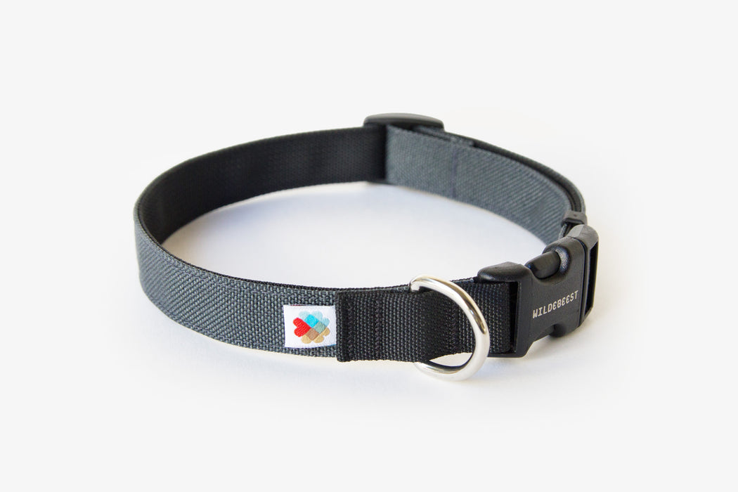 Funston Dog Collar / Charcoal