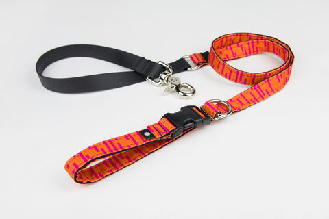 Pacifica Adjustable Dog Leash / Coral