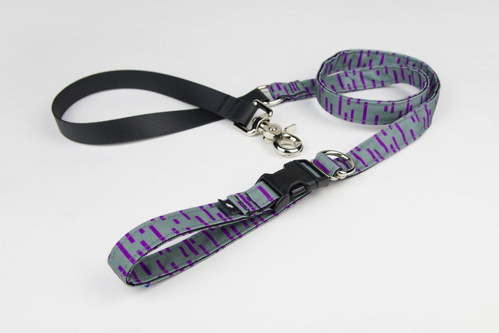Pacifica Adjustable Dog Leash / Grey