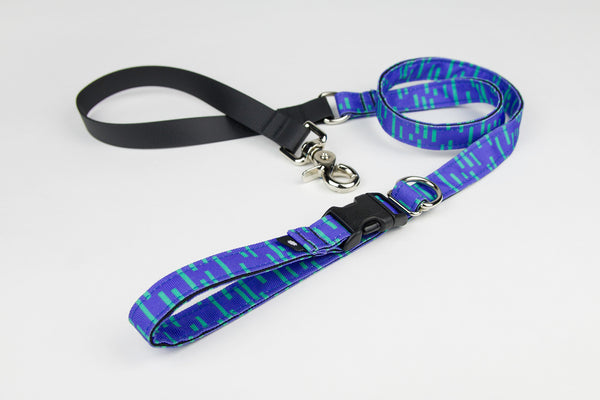 Pacifica Adjustable Dog Leash / Indigo - Wildebeest