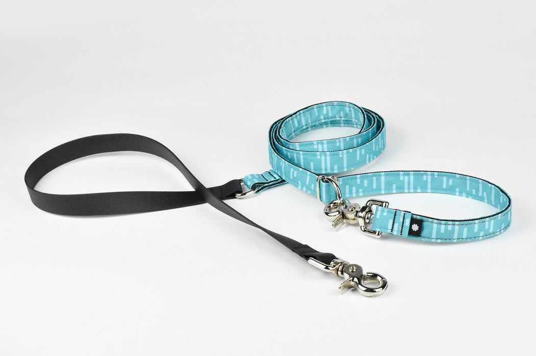 Pacifica Hands-Free Dog Leash / Aqua - Wildebeest