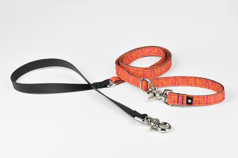 Pacifica Hands-Free Dog Leash / Coral