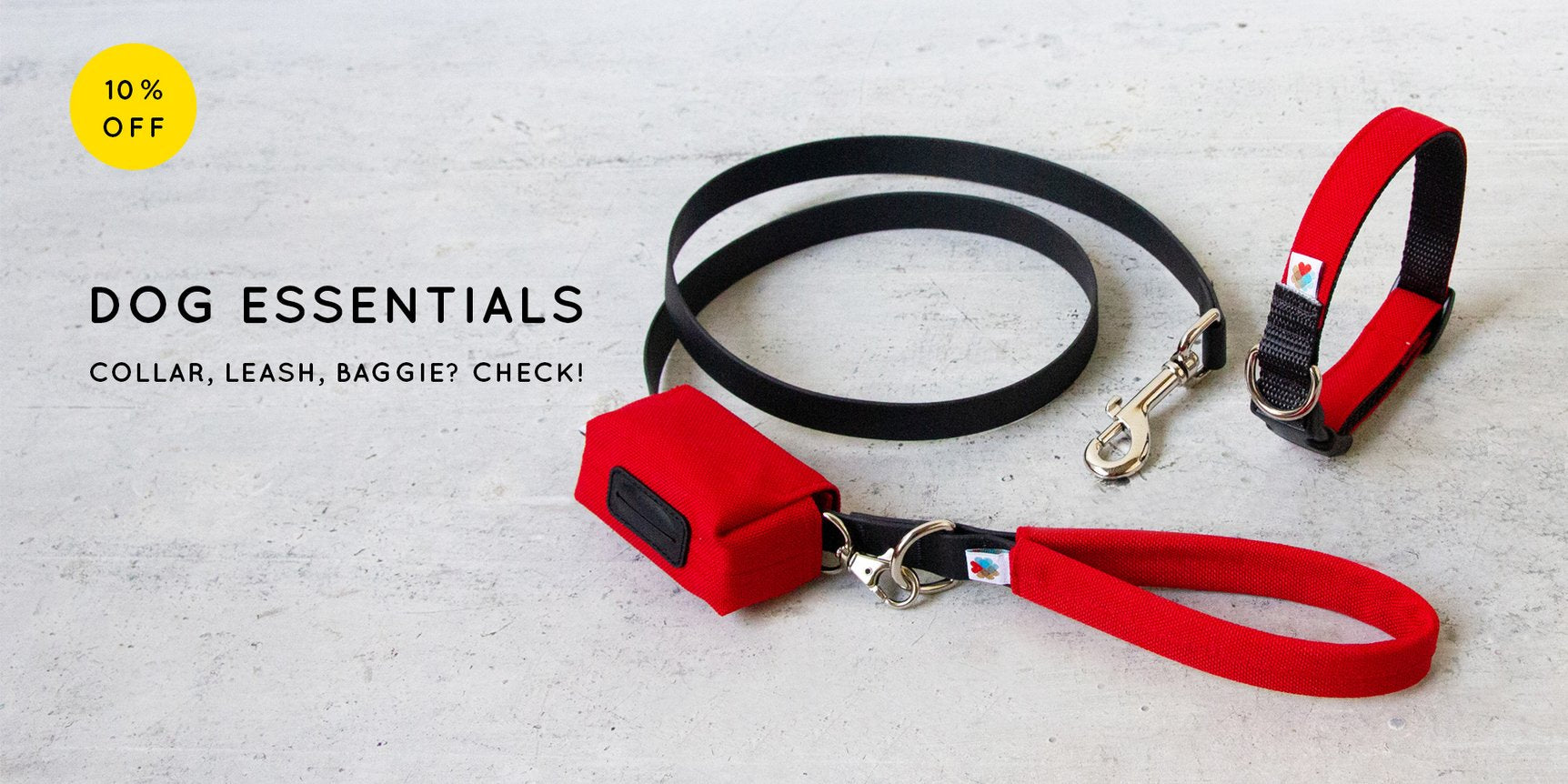 10% off dog essentials