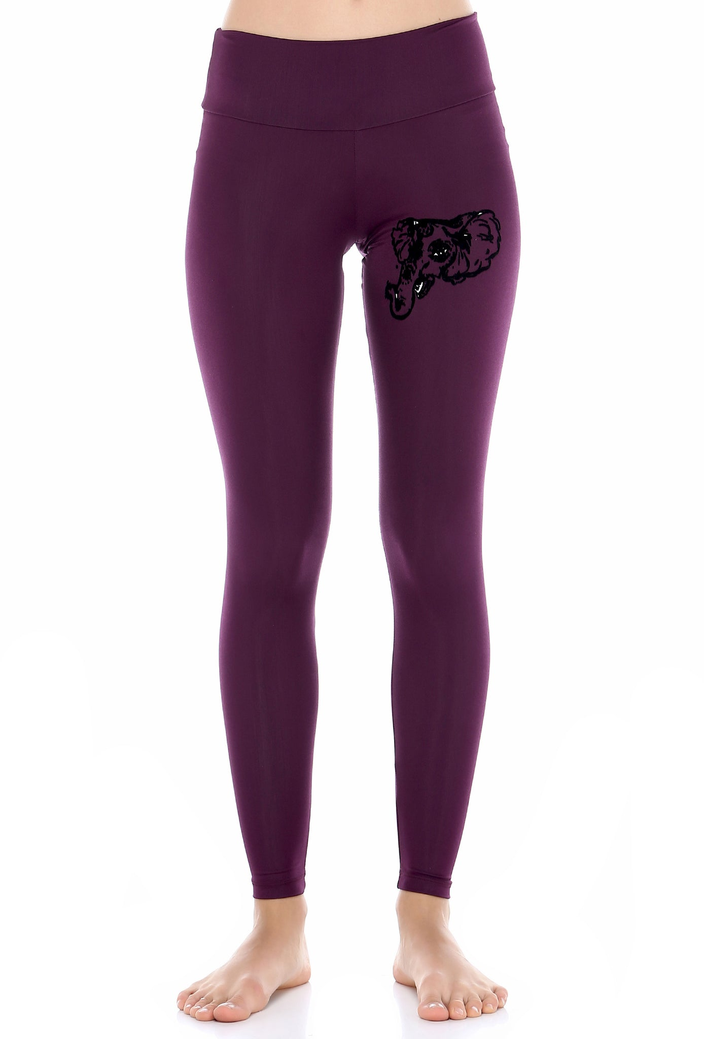 Ganesha purple legging