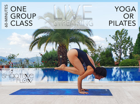 1 GROUP LIVE YOGA or PILATES CLASS